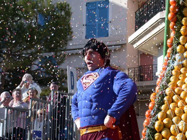 Superman (on the Peru float?)