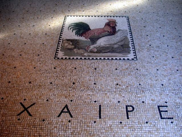 "Foyer floor mosaic - ""XAIPE"" (Enjoy Yourself)"