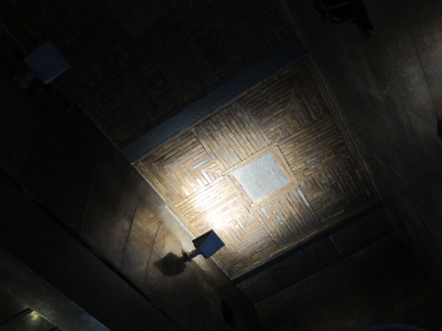 Ceiling of entryway