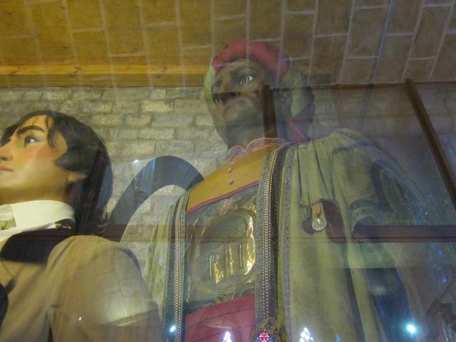 Santa Maria del Pi giants (see plaque in photo below)