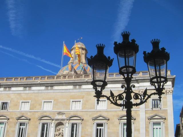 The Generalitat, across the square facing the Ajuntament